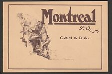 KAPPYS 5522 POST CARD BOOKLET HISTORIC PHOTOS  MONTREAL CANADA  PQ CIRCA 1900'S