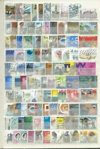 BELGIUM  : COLLECTION ..2.ALBUM PAGES DIFFERENT MODERN USED STAMPS - THEMATIC