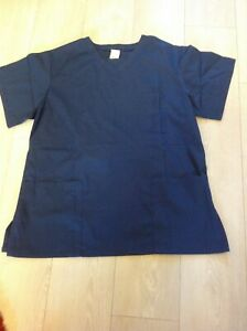 Unisex Hospital Medical Scrub Doctor Nursing Scrubs top shirt large