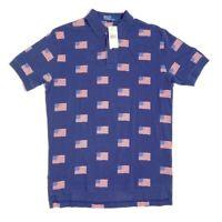 NWT Polo Ralph Lauren Shirt Flag VTG Mens Medium Patriotic Red White Blue