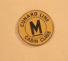 Cunard Line M Cabin Class Round Metal Pin