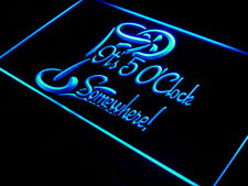 i560-b It's 5 O'Clock Somewhere Bar Beer Neon Light Sign