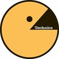 Technics 60651 Pair Slipmat Tecman Yellow Logo Original / Brand New