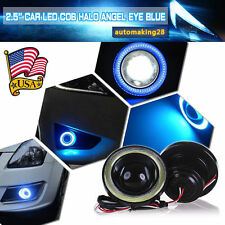"High Power 2.5"" Projector LED Fog Light w/ COB Halo Angel Eye Ring For Nissan US"