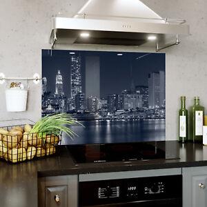 Glass Splashback Kitchen Tile Cooker Panel ANY SIZE New York Bridge 0314