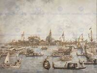 CANALETTO ITALIAN ASCENSION DAY FESTIVAL VENICE ART PAINTING POSTER BB5050B