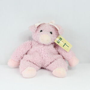 "First & Main Inc Bubble Pink Pig Plush Stuffed Animal Toy 12"" Bow Non-Allergenic"
