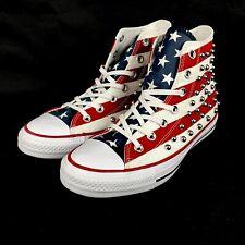Converse CTAS Hi Top Studded USA Flag Red White Blue Mens 6 Womens 8160994C