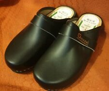 Gevavi - Black leather closed clogs orthopaedic made in Holland size 6