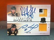 2010 Upper Deck The Cup Signature Patches Ray Bourque & Cam Neely Auto Patches