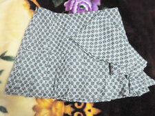 Korean Women's Fashion Snowflake Print Wool Blend Skirt