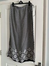 M & Co Black & White Maxi Skirt , Size 16 , NWOT