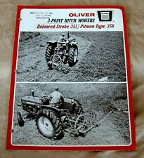 Vintage Oliver Corporation 351 & 356 Mowers Advertising Brochure-Ca 1966!