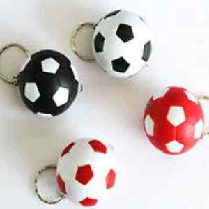 4x Football KeyRing KeychainBuilt In Mini Torch LED Light Collectible Sport Ball