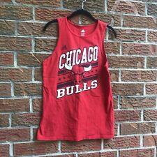 ADIDAS youth size L Large 14/16 CHICAGO BULLS red tank top