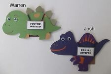 Dinosaur Invitation Card/ Dino Card/ Handmade dinosaur invitation card/Set of 12