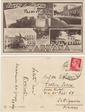 SALUTI A GRANDE VELOCITA' DA SARZANA - VEDUTINE CON TRENO (LA SPEZIA) 1938
