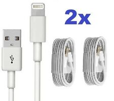 2x 1M Long USB Quick Charger Data Charging Cable Lead For iPhone SE 5 6 7 8 XR