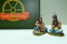 Team Miniatures, Indianer, Sioux am Lagerfeuer,Two People Talking, IDA6025, 1/30