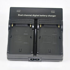 Dual Battery Charger for Sony NP-F330 NP-F550 NP-F750 Camcorder LED Vedio Light