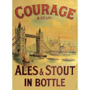 Courage Ale Tin Sign