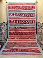 "Vintage Moroccan Handmade Rug Tribal Azilal Rug Kilim Berber Wool Rug 12'3"" x 6'"