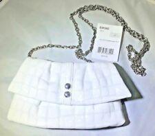 NWT Brighton NOLITA SHIMMER White Leather Purse Clutch Crossbody Bag MSRP $75
