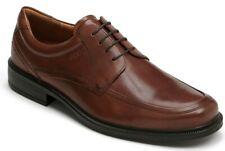 ECCO Men's Dublin Apron Toe Tie Brown Leather Oxford Lace EU 44 / US 10 - 10.5