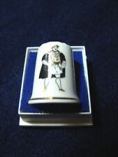 Fine Bone China HENRY VIII BORN 1491 REIGNED 1509-1547 Souvenir Thimble in Case