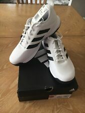 New! adidas Men'S Game Spec Athletic Tennis Shoes ~White/Black Stripes~10 1/2