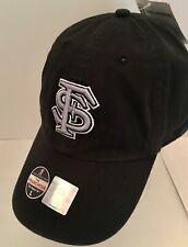 Florida State Seminoles FSU Black Platinum Franchise Fitted Hat Size LARGE NEW