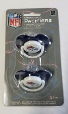Denver Broncos Baby Infant Pacifiers NEW - 2 Pack   GREAT SHOWER GIFT!