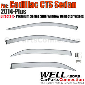 WellVisors Window Visors For 14-19 Cadillac CTS Sedan Rain Guard Wind Deflectors