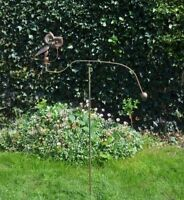 east2eden Rocking Balancing Bronze Wise Owl Metal Garden Wind Rocker Spinner Ornament