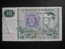 Suecia 1963-76 problema - 10 coronas 1979-P52d-condición circulada