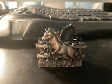 Pewter Horse Business Card Holder