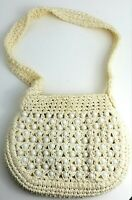 Lerner Shop Crochet Woven Purse Made in Italy Pearls Rare