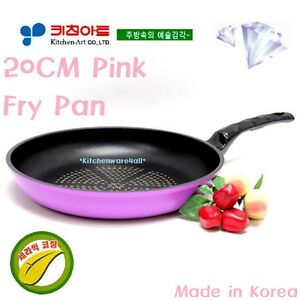 KitchenArt Non Stick 20Cm Frying Pan 22cm Wok set  Diamond Ceramic coated KOREA