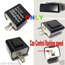 12v 2-Pin Speed Adjustable LED Flasher Relay Fix light Hyper Flash SUZUKI BIKE B
