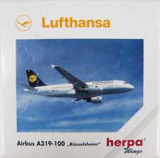 """Airbus a319-100 lufthansa """"Rüsselsheim"""" D-ailc Herpa 508933 1:500"""