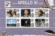 APOLLO XI Moon Landing Armstrong/Aldrin/Collins Space Stamp Sheet/1994 S.Leone