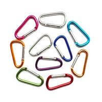 5x D-Ring Carabiner Key Chain Clip Karabiner Camping Keyring Aluminum Snap Hook