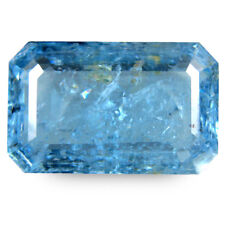 30.13Ct Natural Aquamarine Blue Color Unheated Emerald Cut Nice Brazil Gemstone