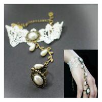Armband aus Spitze im VICTORIAN Style Barock Gothic Lolita Ring Kettchen