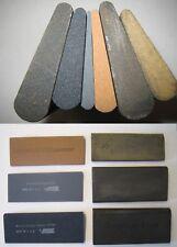 Slip Stone lot Norton and others 6 shapes Fine Medium Crystolon India oilstone