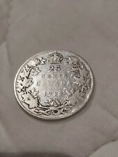 ➡➡1912 CANADA 25 CENTS .925 SILVER QUARTER King George V Circulated Key date.