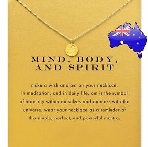 Mind Body & Spirit OM Buddha Meditation Yoga Spiritual Pendant Necklace Gift New