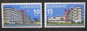 SURINAME 1966 Central Hospital Paramaribo. Set of 2. Mint Never Hinged. SG583/84