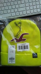 Hollister Unisex Knit Icon Beanie NWT One Size Yellow