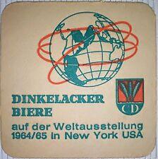 alter Bierdeckel DINKELACKER BIERE, Stuttgart 1964/65